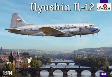 Ilyushin IL-12 Czech airliner · AM 1445 ·  A-Model · 1:144