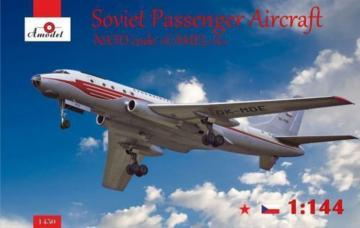 Tupolev Tu-104 airliner,Czechoslovakian · AM 1450 ·  A-Model · 1:144