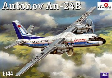 Antonov An-24B passenger airliner · AM 1464 ·  A-Model · 1:144