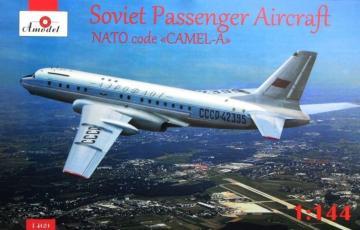 Tupolev Tu-104 airliner, Aeroflot, kit1 · AM 1469 ·  A-Model · 1:144