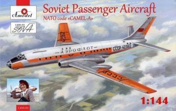 Tupolev Tu-104 airliner,Aeroflot, kit2 · AM 146901 ·  A-Model · 1:144