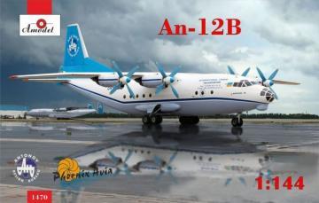 Antonov An-12B cargo aircraft · AM 1470 ·  A-Model · 1:144