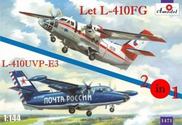 Let L-410FG & L-410UVP-3 aircraft (2 kits) · AM 1471 ·  A-Model · 1:144