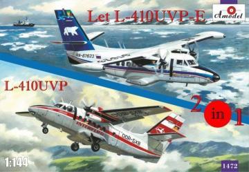 Let L-410UVP-E & L-410UVP aircraft (2 kits) · AM 1472 ·  A-Model · 1:144