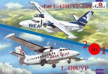 Let L-410UVP-E10 & L-410UVP aircraft (2 kits) · AM 1473 ·  A-Model · 1:144