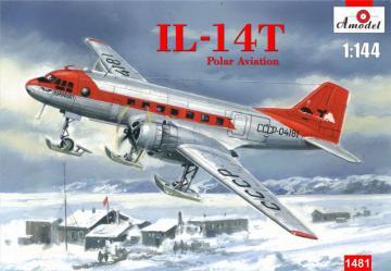 Ilyushin IL-14T Polar aviation · AM 1481 ·  A-Model · 1:144