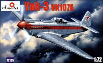 Yakovlev Yak-3 VK107A Soviet fighter · AM 72105 ·  A-Model · 1:72