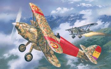 Hawker Fury Spanish AF fighter · AM 72139 ·  A-Model · 1:72
