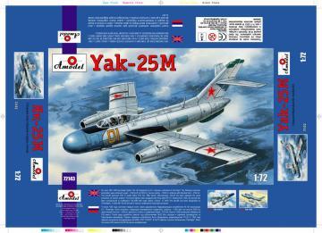 Yakovlev Yak-25M Soviet fighter · AM 72143 ·  A-Model · 1:72