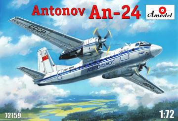 Antonov An-24 civil aircraft · AM 72159 ·  A-Model · 1:72