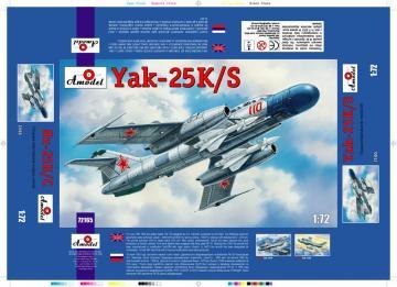 Yakovlev Yak-25K/S Soviet fighter · AM 72165 ·  A-Model · 1:72