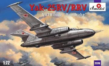 Yakovlev Yak-25RV/RRV Mandrake sovj.int. · AM 72176 ·  A-Model · 1:72