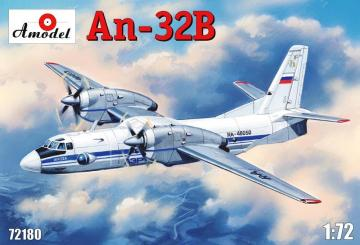 Antonov An-32B civil aircraft · AM 72180 ·  A-Model · 1:72