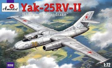 Yakovlev Yak-25RV-II Mandrake sovj. int. · AM 72212 ·  A-Model · 1:72