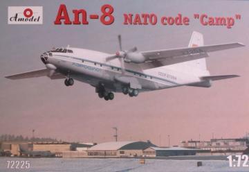 Antonov An-8 AEROFLOT · AM 72225 ·  A-Model · 1:72