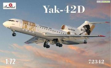 Yak-42D Orel Avia · AM 72342 ·  A-Model · 1:72