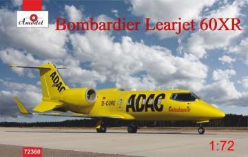 Bombardier Leajet 60xR ADAC ambulance · AM 72360 ·  A-Model · 1:72