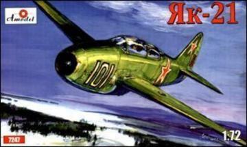 Yakovlev Yak-21 Soviet jet fighter · AM 7247 ·  A-Model · 1:72