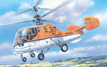 Kamov Ka-15M Soviet civil helicopter · AM 7256 ·  A-Model · 1:72