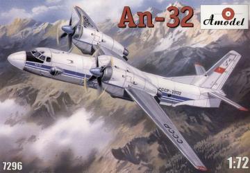 Antonov An-32 Soviet transport aircraft · AM 7296 ·  A-Model · 1:72