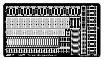 German clamps and clasps  / Deutsche Klammern und Halterungen · AB 16013 ·  Aber · 1:16