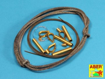 Tow cables & track cable with brackets used on Tiger I  King Tiger & Panther · AB 16030 ·  Aber · 1:16