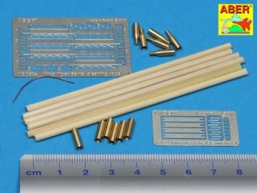 Barrel cleaning rods with brackets for Tiger II  [Tamiya] · AB 16052 ·  Aber · 1:16