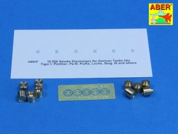 Smoke Discharges for rear five grenade racks · AB 16101 ·  Aber · 1:16