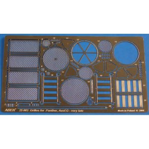 Grilles for Sd.Kfz.171. Panther, Aus.G – Late model · AB 25003 ·  Aber · 1:25