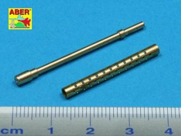 Set of 2 Turned U.S barrels for Browning  M-1919 A4 with two part muzzle · AB 25L-01 ·  Aber · 1:25