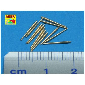 Set of 12 pcs  100mm barrels M1930 L45 for French ships · AB 350L-41 ·  Aber · 1:350