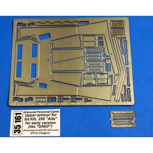 Upper armour for SD.Kfz.250´Alte´ for early version(like Greiff) · AB 35161 ·  Aber · 1:35
