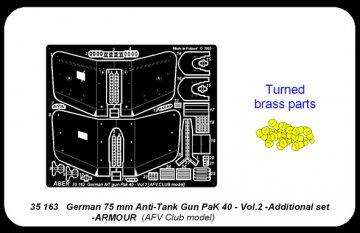 Germ75mm Anti-Tank GunPaK40-vol.2- add.set -armour [AFV-Club] · AB 35163 ·  Aber · 1:35