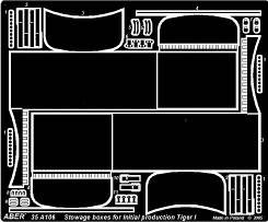 Turret side stowage bins for Pz.Kpfw.IV initial product. · AB 35A106 ·  Aber · 1:35