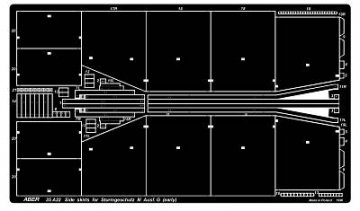 Side skirts for Sturmgeschutz III (Early model) · AB 35A22 ·  Aber · 1:35