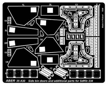 """Side bin doors & additional parts for """"Puma"""" · AB 35A30 ·  Aber · 1:35"""
