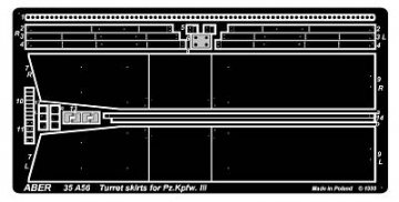 Turret skirts for PzKpfw III · AB 35A56 ·  Aber · 1:35
