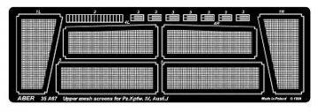 Upper mesh screens for Panzer IV, Ausf.J · AB 35A67 ·  Aber · 1:35