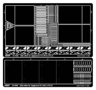 Side skirts for Jagdpanzer IV (V) · AB 35A82 ·  Aber · 1:35