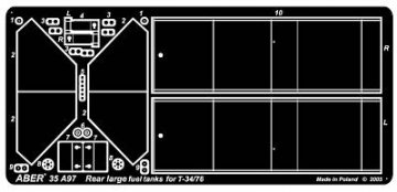 Rear large fuel tanks for T-34/76 · AB 35A97 ·  Aber · 1:35