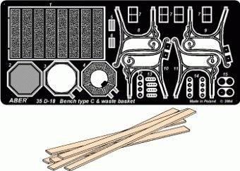 Bentsch type C & waste basket · AB 35D-18 ·  Aber · 1:35