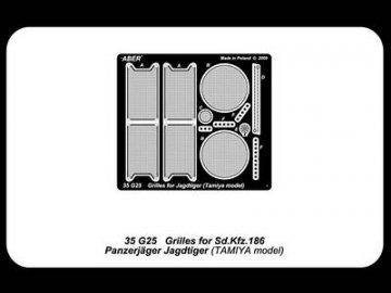Grilles for Sd.Kfz.186 Jagdtiger · AB 35G25 ·  Aber · 1:35