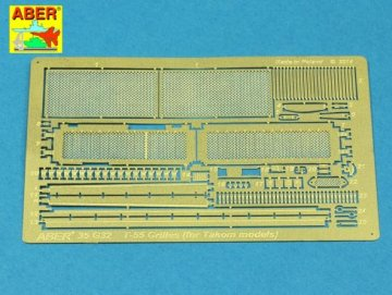 Grilles for Russian Tank T-55AM also for T-55AMV · AB 35G32 ·  Aber · 1:35