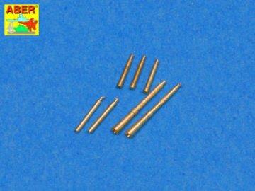 Set of 7 barrels tips for Soviet Degtijarew DT and DP machine guns · AB 35L-99 ·  Aber · 1:35