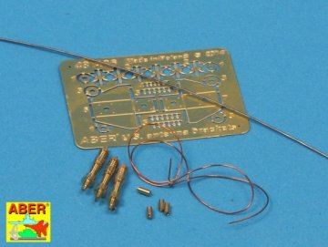 US antenna & brackets (set of 3 pcs) · AB 48A26 ·  Aber · 1:48