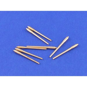 Set of 8 pcs 380 mm long barrels for turrets without antiblast covers ships Richelieu, Jean Bart · AB 700L-01 ·  Aber · 1:700