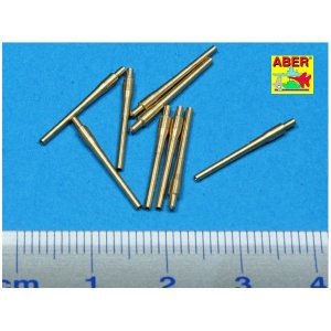 Set of 9 pcs 406 mm  short barrels for ships: North Carolina, Washington · AB 700L-12 ·  Aber · 1:700