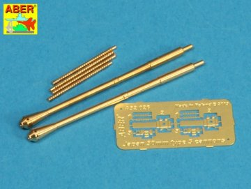 Set of two barrels for Japanese 30 mm Type 5 aircraft machine cannons · AB A32026 ·  Aber · 1:32