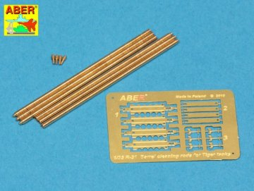 Barrel cleaning rods with brackets for King Tiger · AB R-32 ·  Aber · 1:35