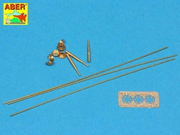 Set of aerials for Russian Tanks like: T-34, T-55, T62,T-72 and other AVF · AB R-33 ·  Aber · 1:35